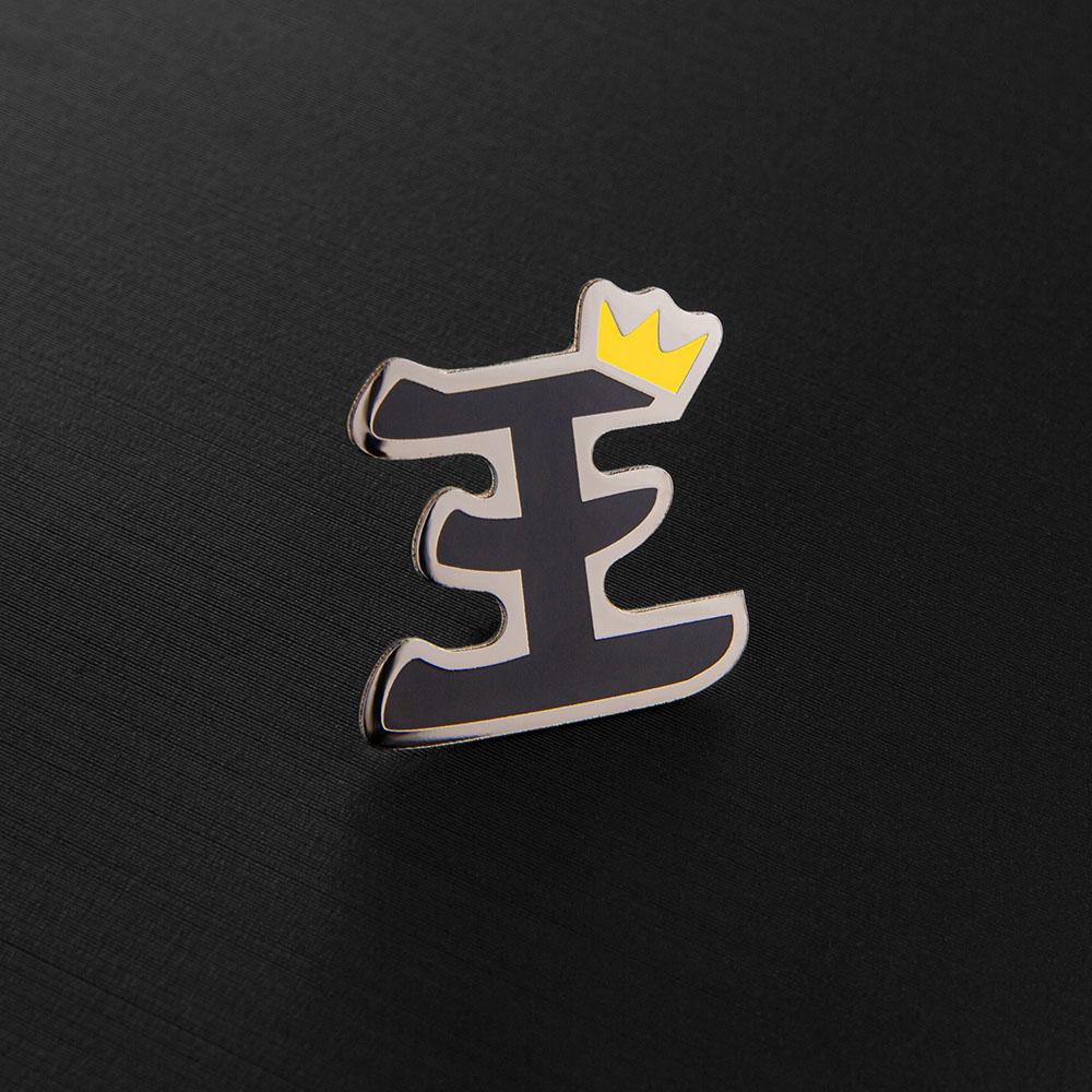Значок, материал латунь, покрытие черный никель