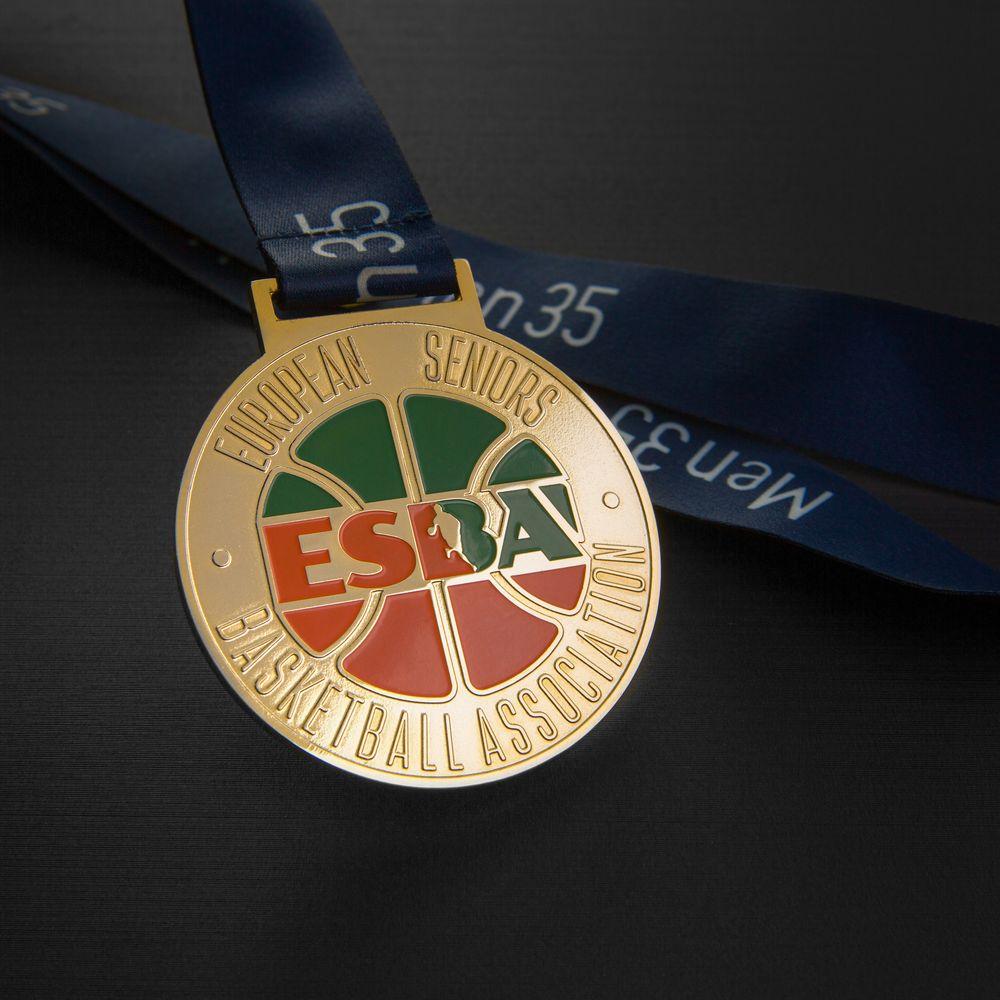 Медаль баскетбольной лиги, позолота